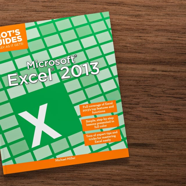 Idiot's Guides: Microsoft Excel 2013 - cover banner