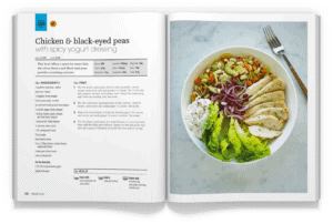 Chicken and Black-eyed Peas with Spicy Yogurt Dressing