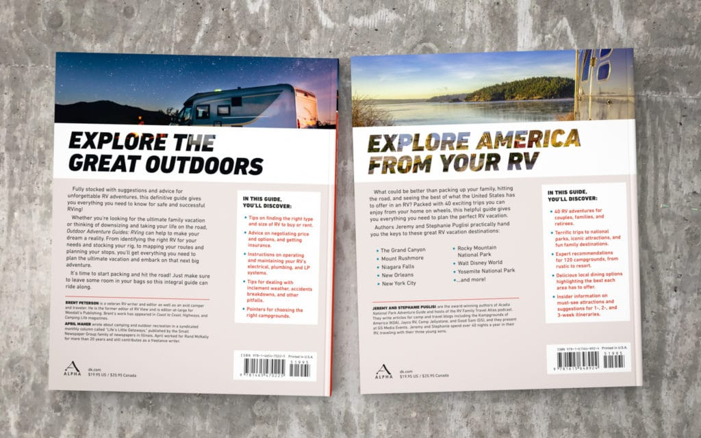 Outdoor Adventure Guides - series design, backs
