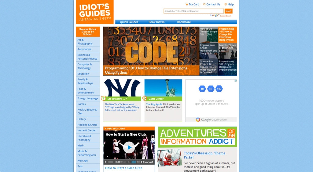 idiotsguides.com Home Page