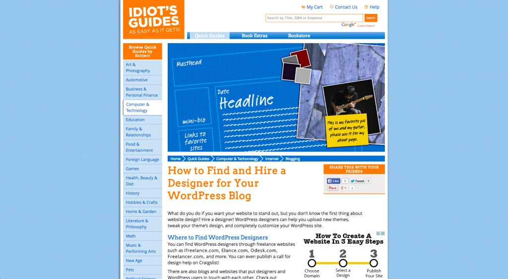 idiotsguides.com Quick Guide