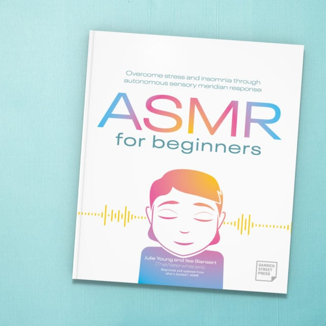 ASMR for Beginners on light teal cloth background
