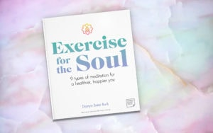 Exercise for the Soul on a delicate marblized surface.